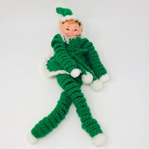 Hand Made Crocheted Christmas Elf